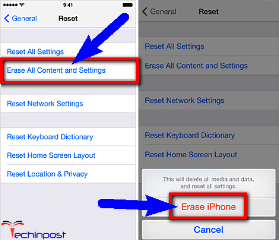 Erase all Contents and Settings on your iPhone