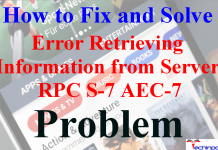 Error Retrieving Information from Server RPC S-7 AEC-7