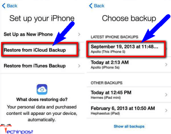 How to Retrieve Messages from iCloud using iTunes