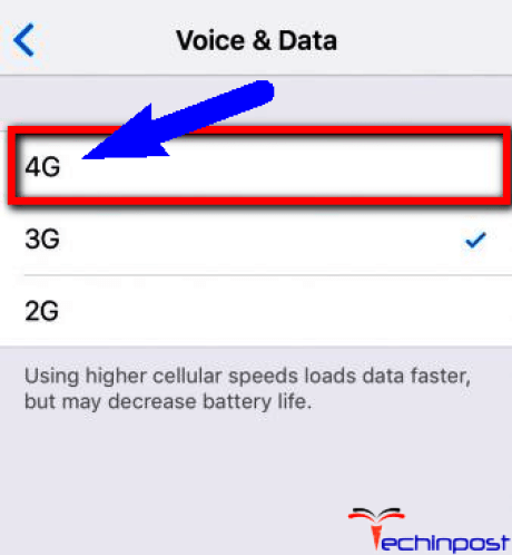 Run Fast Internet or Enable the 4G LTE on your Device