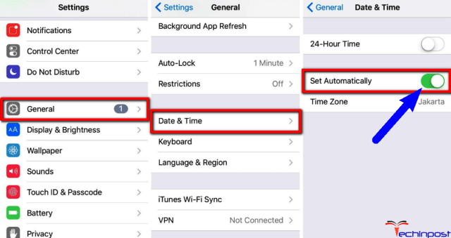 Set Date and Time Automatically on your Device
