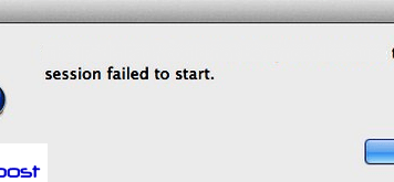 Sync Session Failed to Start