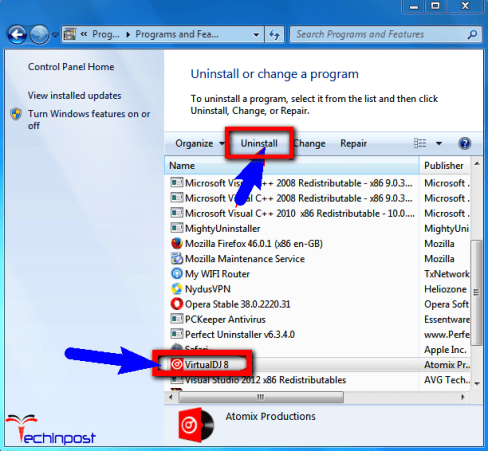 Uninstall the Virtualization Software from your Windows PC