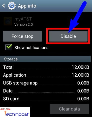 Disable the Apps from your Android Device