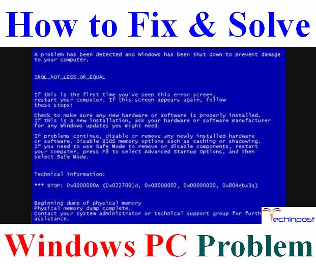 Stop code irql_not_less_or_equal windows 10 fix | Fix