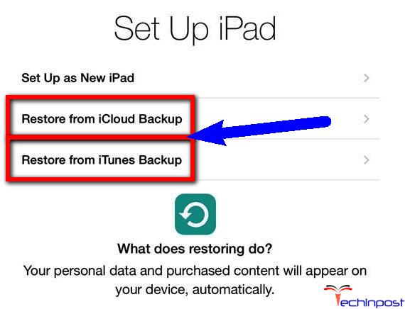 Restore your iPad & Reset the iPad Passcode