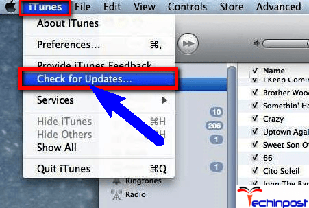 Update your iTunes Software Sync Session Failed to Start