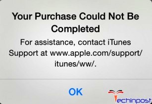 FiXED] iTunes Your Purchase Could Not Be Completed In App