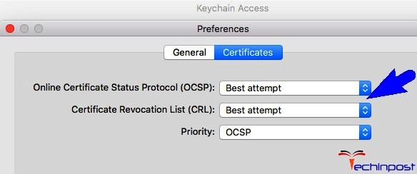 Make Sure that Both CRL & OCSP are Set to Best Attempts