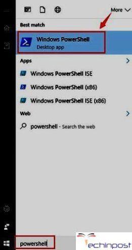 Start -> PowerShell -> Windows PowerShell