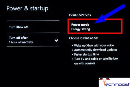 Then to Settings > Power & startup