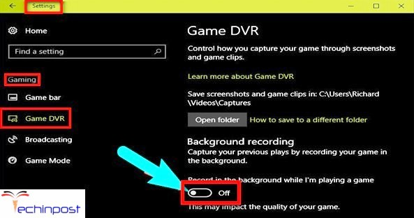 Disable Game DVR
