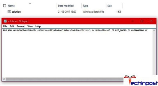 Disabling the Software Restriction Policy by using a.BAT file