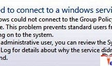 Failed to Connect to a Windows Service