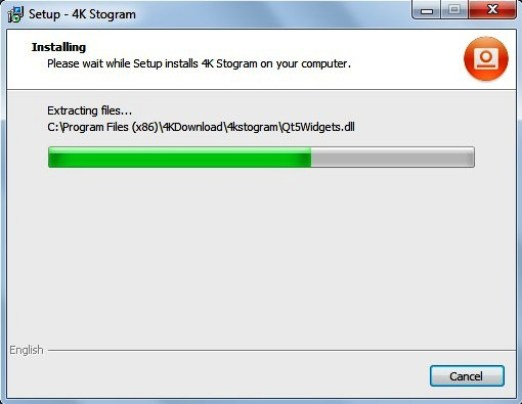 The software will now start the installation, and it will be completed within few seconds