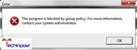 This Program is Blocked by Group Policy