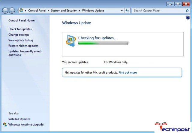 Windows Checking for Updates