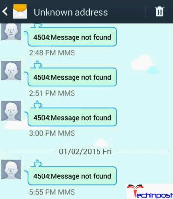 4504 Message Not Found