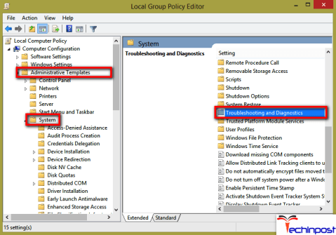 Inside the Local Group Policy Editor try to navigate to the directory given below