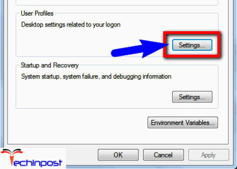Inside theUser Profiles, clickon Settings