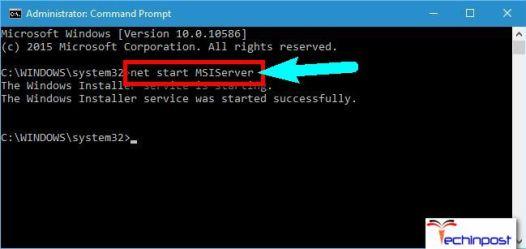 Starting Windows Installer Service