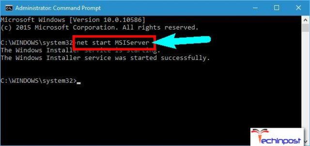 Starting Windows Installer Service