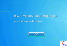 The User Profile Service Service Failed the Logon