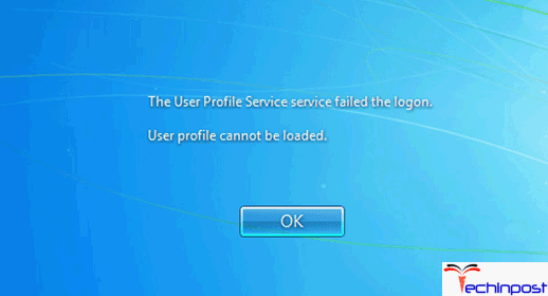 how to fix user profile service service failed the logon