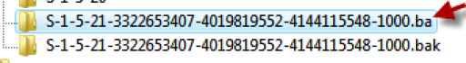 Right-click on the folder withoutthe .bak extension, and clickon Rename. Type'.ba,' and then press ENTER