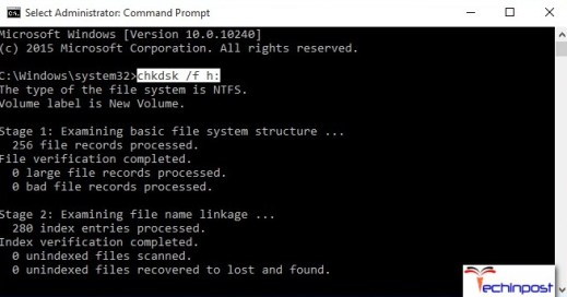 Check Errors with Chkdsk Command