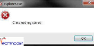 Class Not Registered