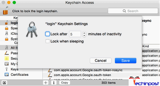 Turning OFF your keychain Auto-Lock