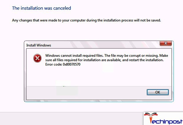 FiXED] Windows Cannot Install Required Files The File may be