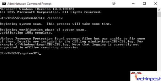 Run the Windows System File Checker