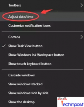 Correcting the Date & Time of your Computer