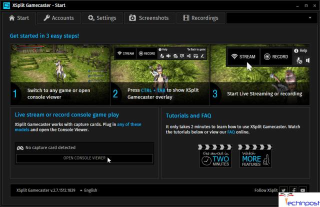 XSplit Gamecaster Best Game Recording Software
