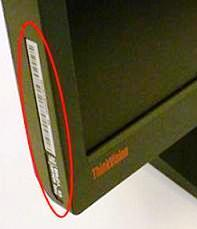 Check near the Power Source, look for a white or silver colored tag where all the ratings are mentioned. Look for a number starting with SN or S/N. That number is your serial number. Note that over there, there are other numbers like product number or model number which is not same as a serial So, look only for SN or S/N, the number followed by SN or S/N is your product's serial number
