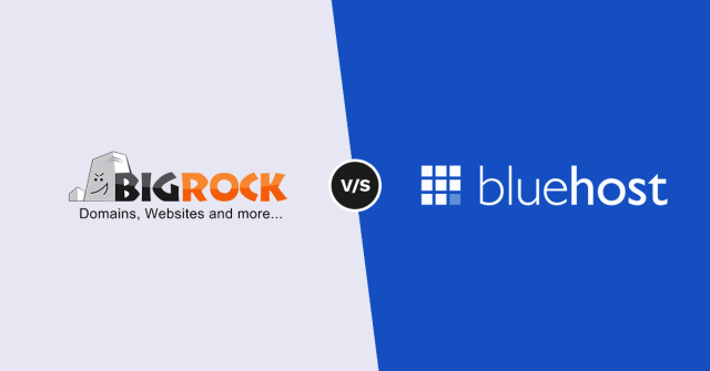 Bluehost vs Bigrock