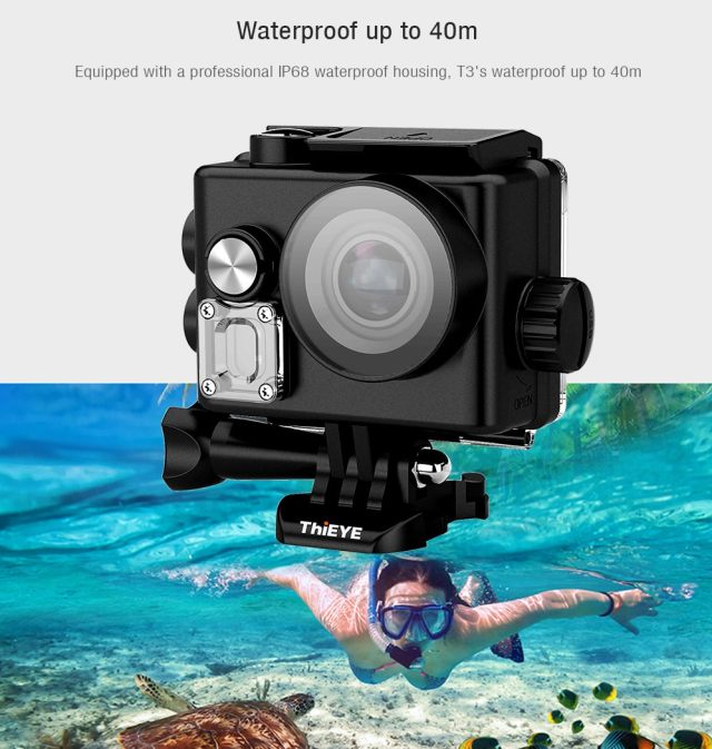 ThiEYE T3 Waterproof Built