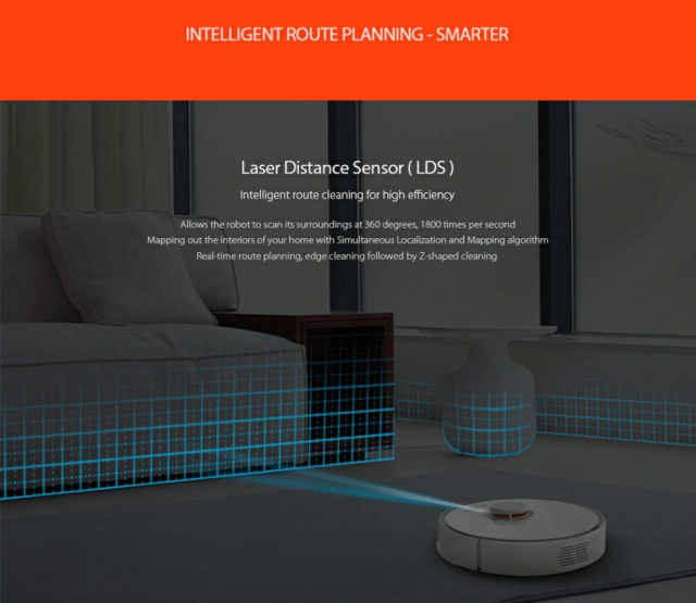 Roborock S50 Smart Robot Vacuum Cleaner Intelligent Route Planning