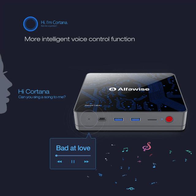 Alfawise T1 mini PC Supports Cortana