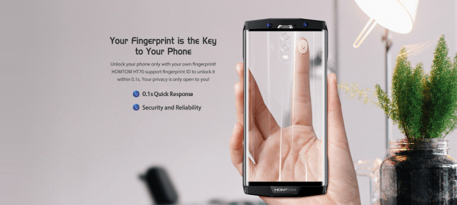 Homtom HT70 Fingerprint