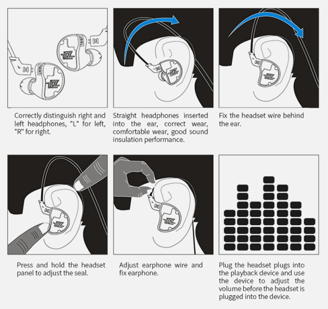 KZ ZS10 Hifi Earphone Easily Wearable