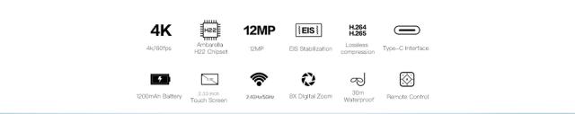 SJCAM SJ8 Pro Action Camera Overview