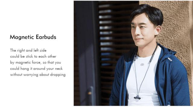 Xiaomi LYXQEJ01JY Bluetooth Earphones Magnetic Earbuds