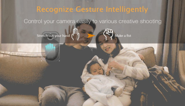 Xiaomo Action Camera Guestures