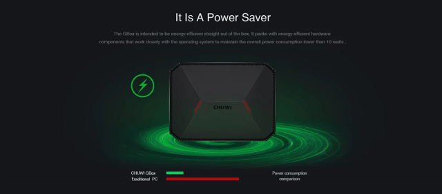 CHUWI GBox Mini PC Power