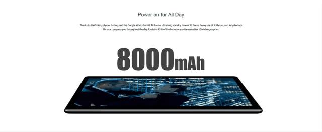 Chuwi Hi 9 Air 4G Tablet PC Battery