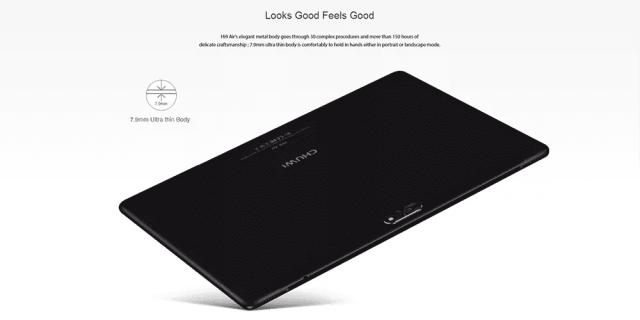 Chuwi Hi 9 Air 4G Tablet PC Design