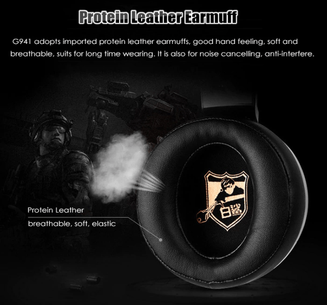 SOMIC G941 USB GAMING HEADSET Design